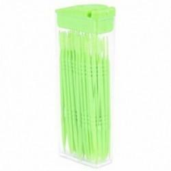 2X (50 db műanyag fogpiszkáló kétutas fogpiszkáló interdentális kefetisztítók P L7Q4