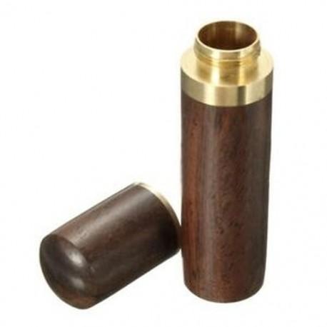 2X (Ebony fa fogpiszkáló tartó vödör Mini doboz túrázás hordozható kézműves Handma E2M4