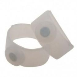 1X (2 X szilikon mágneses test lábujjgyűrű karcsú, F7F4)