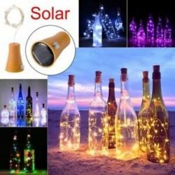 sokszínű - 1PCS Solar 2M LED parafalakú 20 LED-es éjszakai tündérlámpa Kork Solarbet K2D6