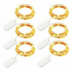 Meleg fehér fény - 1X (6 szalagos tündérvilágítás LED-es vonós lámpák az akkumulátor működtetése 6.6 láb 20 Leds