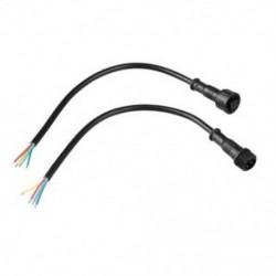 1X (LED csíkok 4 tűs vízálló hálózati csatlakozó kábel fekete R2F8)