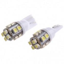 2X T10 194 168 W5W 12 LED SMD tiszta fehér oldalsó ék belső belső lámpa Bul K3Y4