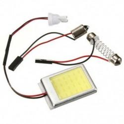 Világítótábla 24 COB LED panel DC 12V (T10 dugó   BA9S csatlakozó   Feston adapter) S3P2