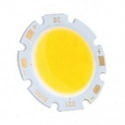 5W-os chipes fényű kerek COB szuper fényes LED-es LED-es lámpa izzók melegfehér DC X5K1