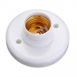 E27 kerek műanyag alapcsavaros izzólámpa aljzattartó fehér Y7V2 I3Y4