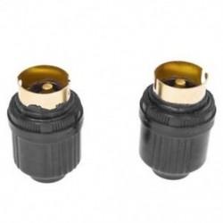 1X (2 db fekete műanyag ház AC 250V 4A sárgaréz B22 izzó lámpatartó X0J5