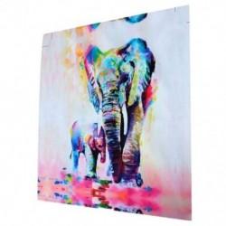 2X (Modern vászon fali dekoráció művészeti festmény, elefántok festménye - 20 C4P6
