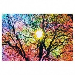 Pszichedelikus trippi fa absztrakt nap művészet selyem ruhával poszter lakberendezés 50cmx I4O8
