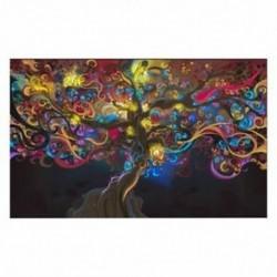 J6T3 5 típusú kozmosz Pszichedelikus szemfa izom selyem ruha művészet poszter otthoni fal