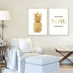 2X (2db / készlet észak-európai arany ananászlevelek (MOST) Creative Living R N7G8