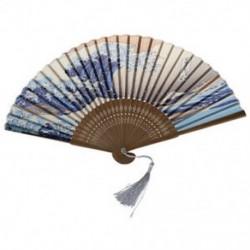 Japán kézi összecsukható ventilátor, hagyományos japán Ukiyo-e műalkotásokkal, X4G7