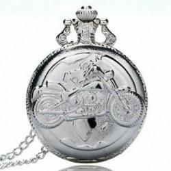 2X (Nagy finom láncú ezüst zsebóra Stílusos és gyönyörű személyiség m N9X7