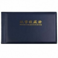 Bankjegypénzgyűjtők Album Pocket Storage 30 oldal Royal blue Y5D9