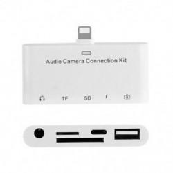 1X (5 az 1-ben, 8-szoros csatlakozás az SD kamera adapterhez, OTG, 3,5 mm-es audio aljzat, TF SD Q1Y3