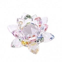 3X (3,4 hüvelykes szivárványos kristály lótuszvirág díszdobozban a Feng Shui Home D Y3R6 számára