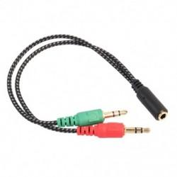 Új, öves CTIA számítógép-telefon fülhallgató mikrofon hosszabbító kábel 3.5 Secon K7O8
