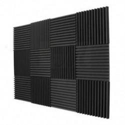 2X (12 darabos akusztikus panelek hab) Műszaki szivacs Ékek Hangszigetelő Pa M4B7