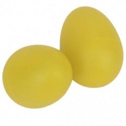 1 pár műanyag ütős zenei tojás Maracas rázógépek sárga O7W8
