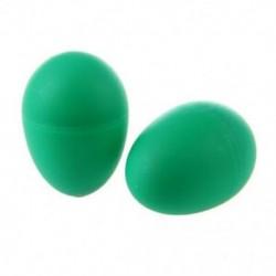 2 műanyag zöld tojás Maraca csörgős rázógépekkel ütve gyerek zenei játék W8O1