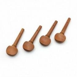 BT 4db 4/4 méretű hegedű hegedű hangolócsapkészlet Jujube fapótló