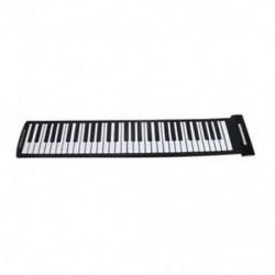 Hordozható 61 kulcsos, rugalmas, összeszerelhető zongora USB MIDI elektronikus billentyűzet kéz R T8D3