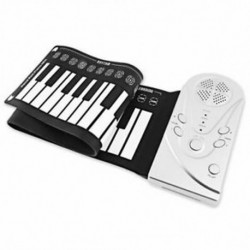 2X (több stílusú hordozható 49 kulcsos, rugalmas, szilikonos tekercses zongora, összecsukható, Ele1 X1Y7