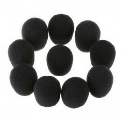 1X (20 db mikrofonos fülhallgató mikrofon borító szélvédő fekete H3O9)