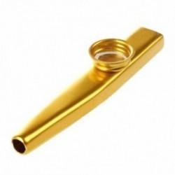 Metal Kazoo furulya száj hangszer Harmonica forró értékesítés gyakorlati arany C3P8