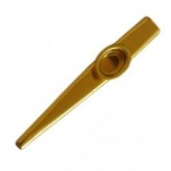 Fém arany Kazoo  2 membrán furulya hangszer ajándék T5A6