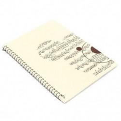50 oldalas zenei adatlap Kéziratos papír Jegyzetfüzet Spirál Boun X7N2