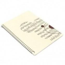 50 oldalas kis medve zenei lap kéziratos papírlapú jegyzetfüzet S8N6