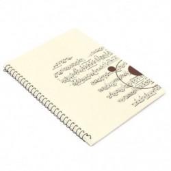 1X (50 oldalas kis medve zenei lap kéziratú papír, Jegyzettömb, Notebo X2V1