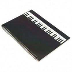 3X (50 oldalas zongora kéziratos papírlapú jegyzetfüzet spirálkötésű I1C9)