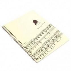 6X (50 oldalas Mozart kottai kéziratos papírlapú jegyzetfüzet S U8A3