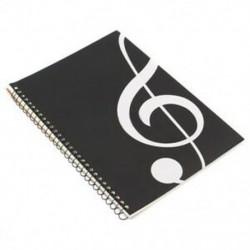 6X (50 oldal) Magas szimbólum Kéziratos papírlap-jelölés Notebook spirál B C7U1