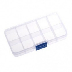 1-10 rekeszes műanyag tárolódoboz, átlátszó a gyöngyszemes ékszerekhez T L5B6