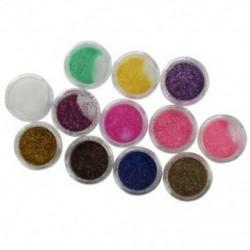 12 színű akrilpor csillogó Nail Art körömdíszítés A3X7 I8N3