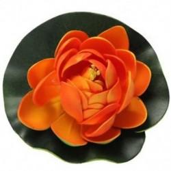 Hab Lotus úszó víz növényi akvárium dísz, narancssárga rügyek J1T7 V8U3 R2R4