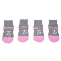 Rózsaszín, szürke, csúszásmentes, meleg kötött zokni csizmás kutya kutya J5W9 P3G3 L0S5