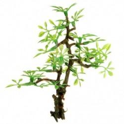 Műanyag bonsai zöld fa akvárium dísz haltartály víz alatti dekoráció Orna J3G8