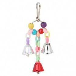 Papagáj madár játékok fém gyűrű csengő függő ketrec játékok Par G8R3 papagáj mókus