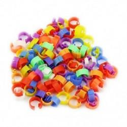 B6 vegyes színű galamb láb műanyag talpgyűrűk szalag belső átmérője 8 mm magas 6 S6E7