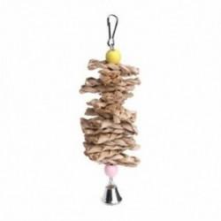 1X (Madárpapagáj-játékok természetes fából készült fűrágó-falatos harapós ketrechez való tartozék P2Y2