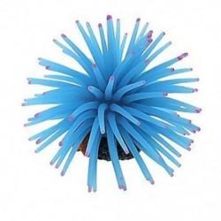 SODIAL (R) kék szilikon mini tengeri anemone dísz az A1I8 akváriumi haltartályhoz
