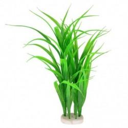 1X (Műanyag akvárium növény zöld víz fű dekoráció 39cm L5J4)