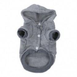 Macska kutya ruházat Téli meleg kötöttáru karácsonykori kölyökkutya kabáthoz, kapucnis H1F8