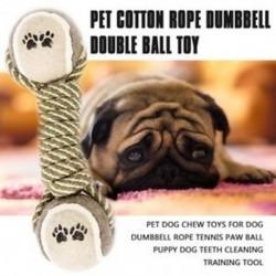 1X (kedvtelésből tartott kutya-rágó játékok kutya súlyzókötél tenisz mancs labdája kölyökkutya fogai O7I3