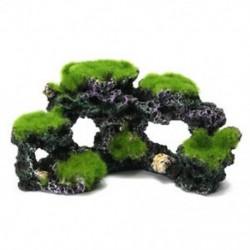 Gyanta Akvárium Korallzátony Moss Rock Haltartály Tengeri sziget díszbarlang D C2D6