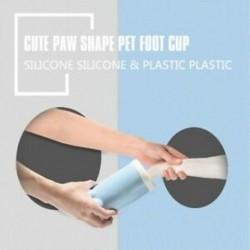 Kedvtelésből tartott lábmosó-kupa kutya puha, gyengéd mancstisztító kölyökkutya-lábmosó eszközök - kék I9P1
